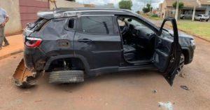 Acidente: Homem destrói jipe de R$ 110 mil um dia após comprar carro em Chapadão do Sul