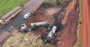 PMA autua empresa em R$ 43 mil pela poluição causada por derramamento de combustível em acidente